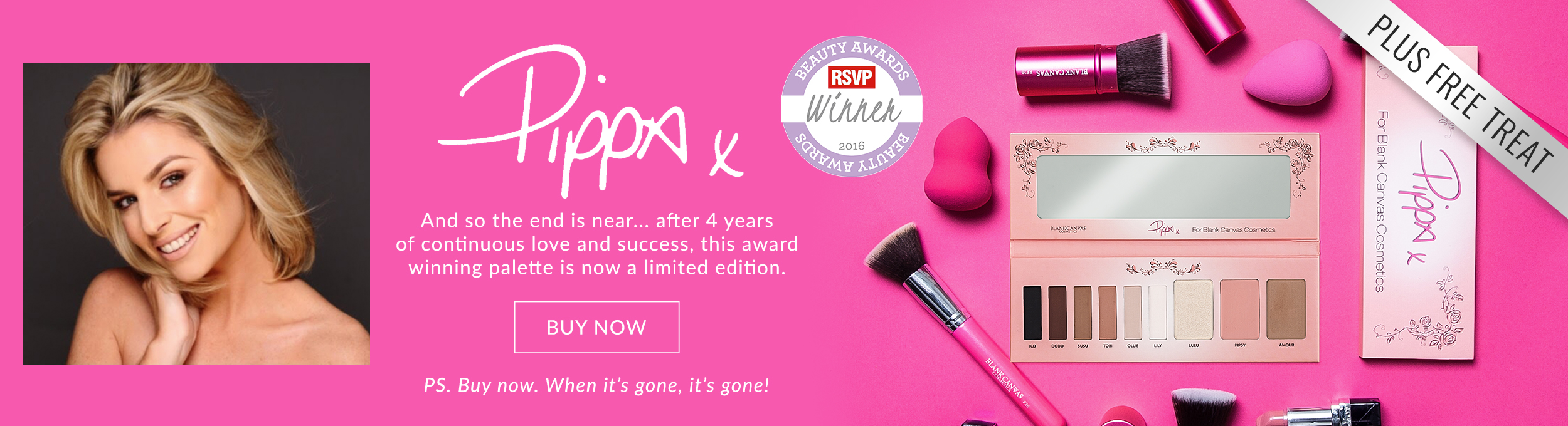 Pippa For Blank Canvas Cosmetics Palette - Plus Free Treat