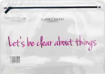 Blank Canvas Let's Be Clear About Things Bag