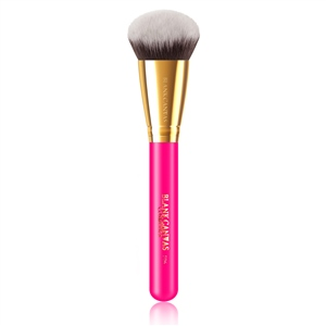 F06 Bevelled Foundation and Contour Brush (Option: Hot Pink/Gold)