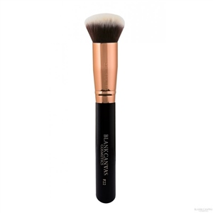 Blank Canvas Cosmetics  F22 Rose Gold and Black Face Brush