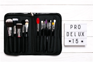 Blank Canvas Cosmetics  15 Piece Professional Brush Set  With Brush Folio
