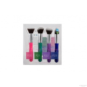 Blank Canvas Cosmetics  Multi-Colour Edition Brush Set With Travel Case