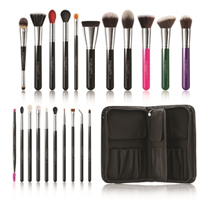 Blank Canvas Cosmetics  Total Pro 21 Piece Deluxe Brush Set With Folio