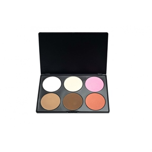 Blank Canvas Cosmetics  6 Shade Powder Blush Palette #2