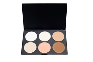 Blank Canvas Cosmetics  6 Shade Contour Highlight Palette #1