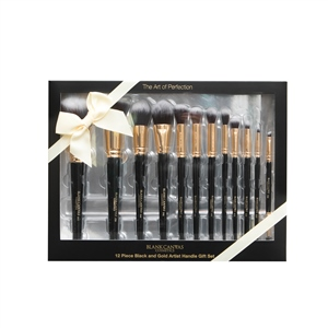 12 Piece Black 'n' Gold Artist Handle Set