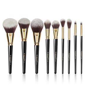 Blank Canvas Cosmetics  9 Piece Black Gold Bundle- brushes only. Includes the F53!
