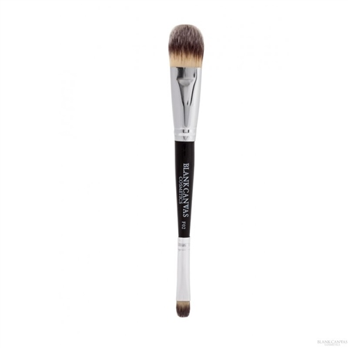 F02 Double Ended Painter Style Foundation and Concealer Brush  - Click to view a larger image