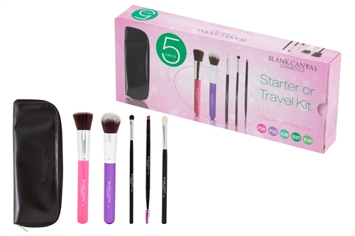 5 Piece Set # 2( F20 Hot Pink, F22 Purple ,E27, E26, E30) with Travel Case
