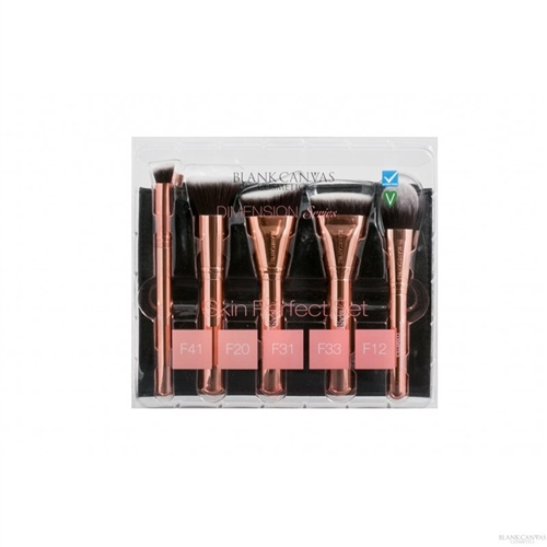 Skin Perfection Metallic Rose Gold Brush Set  - Click to view a larger image