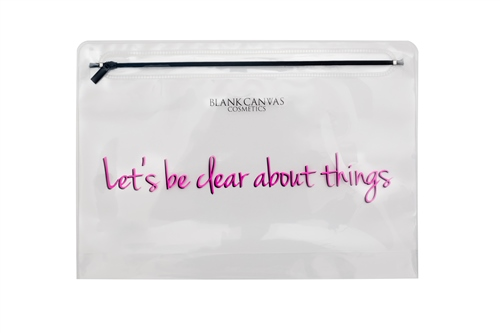 Clear Makeup Bag - Let's be clear about things  - Click to view a larger image