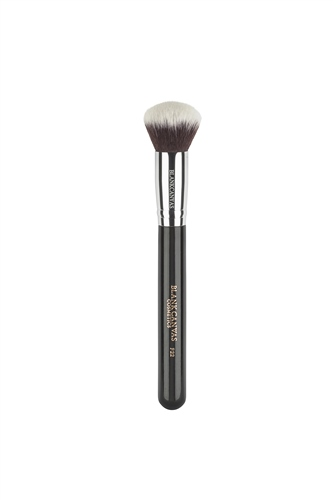 F22 Black with Silver Ferrule Face Brush  - Click to view a larger image