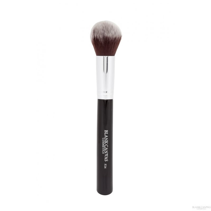 F24 Medium Foundation Powder and Bronzer Brush 1